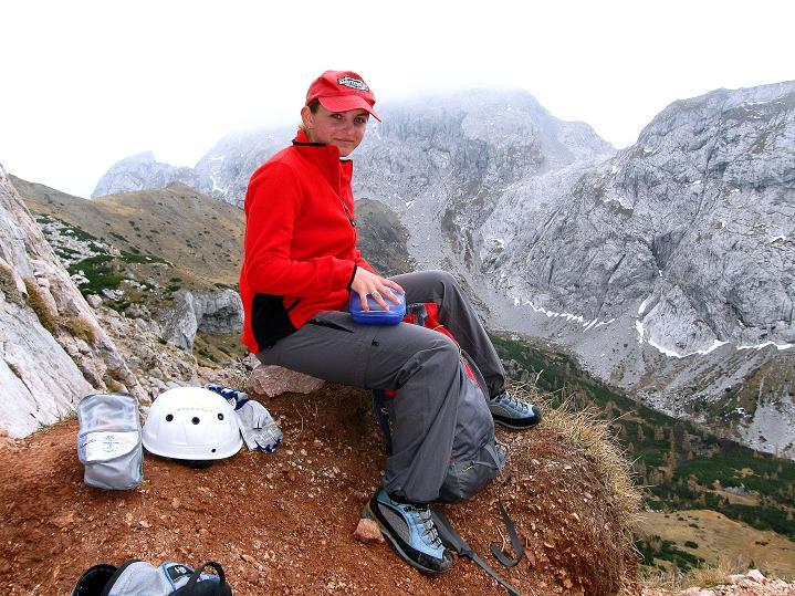 Foto: Andreas Koller / Klettersteig Tour / Via ferrata Crete Rosse und Uiberlacher Klettersteig (2280m) / Rast beim Einstieg / 22.10.2008 00:34:38