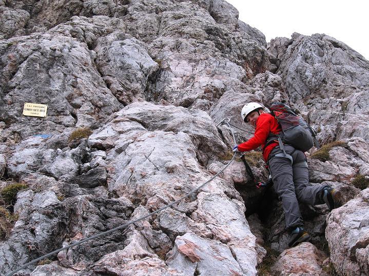 Foto: Andreas Koller / Klettersteig Tour / Via ferrata Crete Rosse und Uiberlacher Klettersteig (2280m) / Der Einstieg / 22.10.2008 00:34:26
