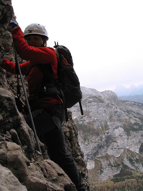 Foto: Andreas Koller / Klettersteig Tour / Via ferrata Crete Rosse und Uiberlacher Klettersteig (2280m) / Steil hinauf zum