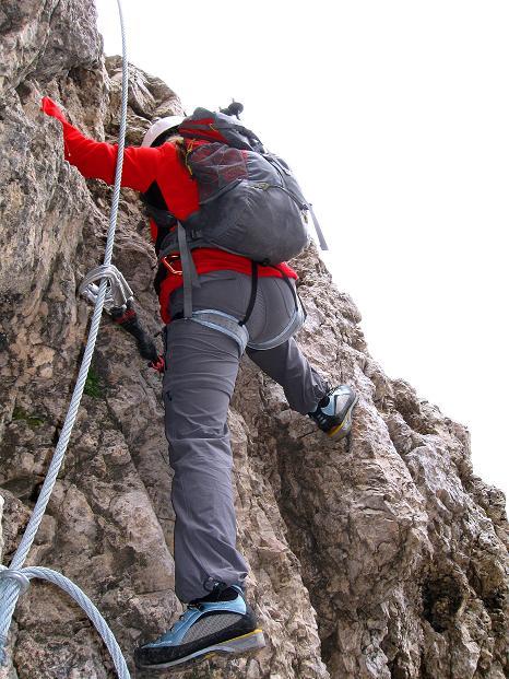 Foto: Andreas Koller / Klettersteig Tour / Via ferrata Crete Rosse und Uiberlacher Klettersteig (2280m) / Steiler Anstieg zum