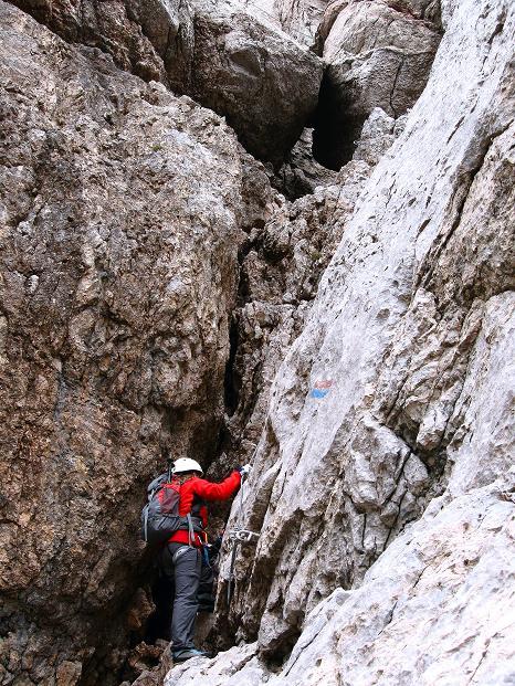 Foto: Andreas Koller / Klettersteig Tour / Via ferrata Crete Rosse und Uiberlacher Klettersteig (2280m) / Steile Verschneidung / 22.10.2008 00:31:00