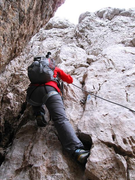Foto: Andreas Koller / Klettersteig Tour / Via ferrata Crete Rosse und Uiberlacher Klettersteig (2280m) / In der Verschneidung (B/C) / 22.10.2008 00:30:44