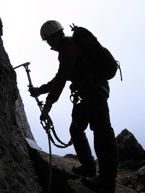 Foto: Andreas Koller / Klettersteig Tour / Via ferrata Crete Rosse und Uiberlacher Klettersteig (2280m) / Nach dem Klemmblock / 22.10.2008 00:29:54