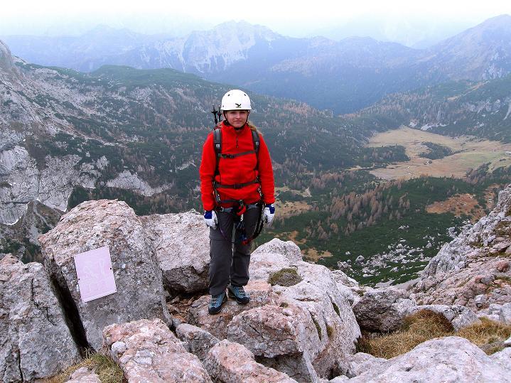 Foto: Andreas Koller / Klettersteig Tour / Via ferrata Crete Rosse und Uiberlacher Klettersteig (2280m) / Bei der Ausstiegstafel / 22.10.2008 00:28:15