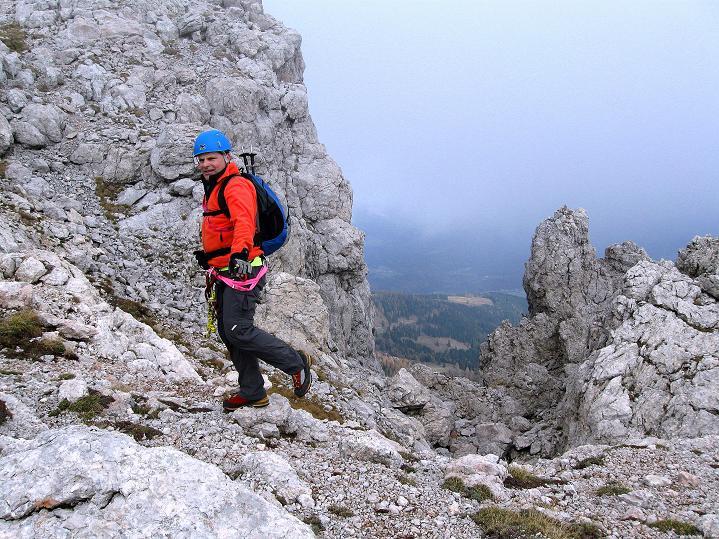 Foto: Andreas Koller / Klettersteig Tour / Via ferrata Crete Rosse und Uiberlacher Klettersteig (2280m) / Kurz unterhalb des Gipfels / 22.10.2008 00:27:01