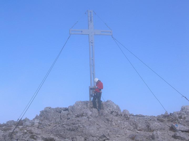 Foto: Andreas Koller / Klettersteig Tour / Via ferrata Crete Rosse und Uiberlacher Klettersteig (2280m) / Eintrag ins Gipfelbuch / 22.10.2008 00:26:20