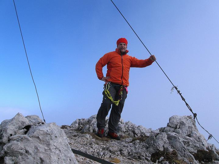 Foto: Andreas Koller / Klettersteig Tour / Via ferrata Crete Rosse und Uiberlacher Klettersteig (2280m) / Am Trogkofel / 22.10.2008 00:26:04