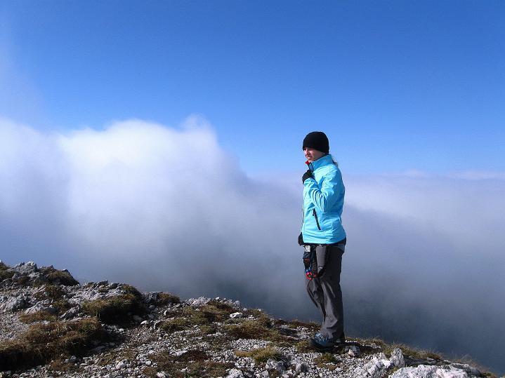 Foto: Andreas Koller / Klettersteig Tour / Via ferrata Crete Rosse und Uiberlacher Klettersteig (2280m) / Das Spiel Nebel - Sonne / 22.10.2008 00:25:49