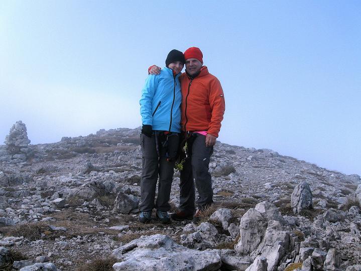 Foto: Andreas Koller / Klettersteig Tour / Via ferrata Crete Rosse und Uiberlacher Klettersteig (2280m) / Am Trogkofel-Gipfel / 22.10.2008 00:25:31