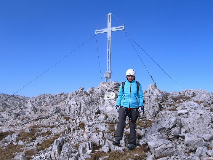 Foto: Andreas Koller / Klettersteig Tour / Via ferrata Crete Rosse und Uiberlacher Klettersteig (2280m) / Abschied vom Gipfel / 22.10.2008 00:24:53