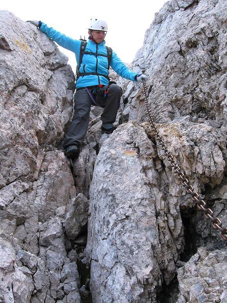 Foto: Andreas Koller / Klettersteig Tour / Via ferrata Crete Rosse und Uiberlacher Klettersteig (2280m) / Auch am Uiberlacher Steig ist Vorsicht geboten / 22.10.2008 00:24:39