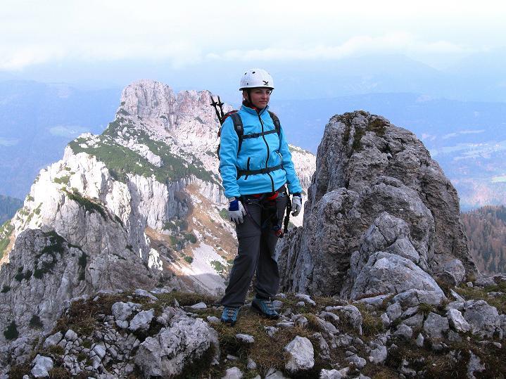 Foto: Andreas Koller / Klettersteig Tour / Via ferrata Crete Rosse und Uiberlacher Klettersteig (2280m) / Ausblick vom Uiberlacher Steig nach N / 22.10.2008 00:23:21