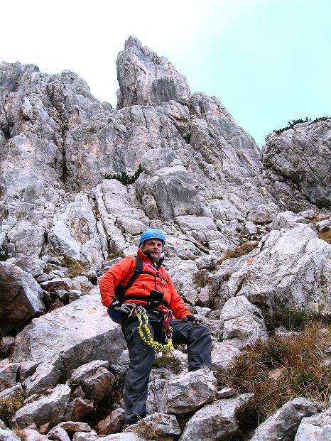 Foto: Andreas Koller / Klettersteig Tour / Via ferrata Crete Rosse und Uiberlacher Klettersteig (2280m) / Ausstieg aus dem Uiberlacher Steig / 22.10.2008 00:20:41
