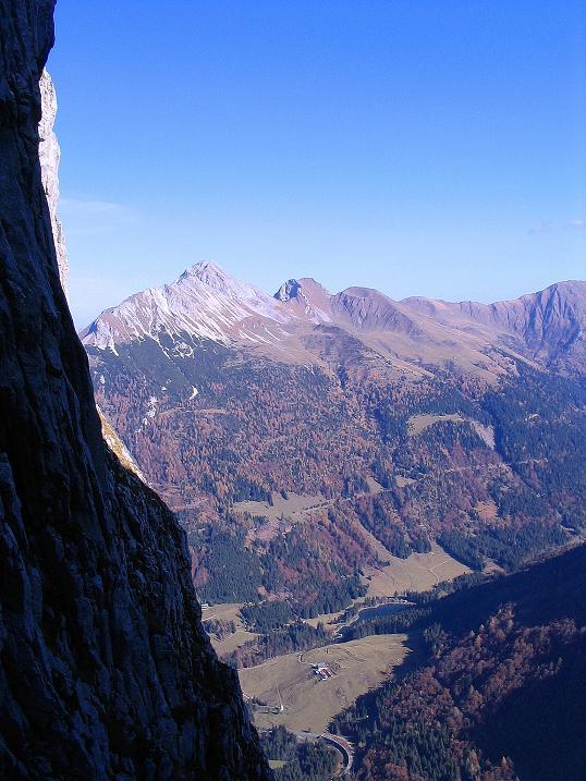 Foto: Andreas Koller / Klettersteig Tour / Cellon Stollen und Steinbergerweg (2241 m) / Blick auf den Polinik (2331 m) / 23.10.2008 01:11:58