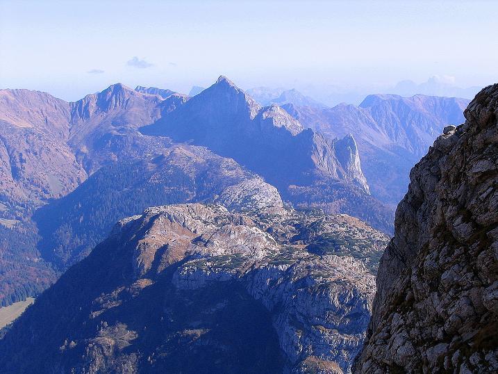 Foto: Andreas Koller / Klettersteig Tour / Cellon Stollen und Steinbergerweg (2241 m) / Blick in die östlichen Karnischen Alpen / 23.10.2008 01:05:58