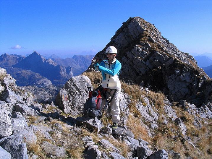 Foto: Andreas Koller / Klettersteig Tour / Cellon Stollen und Steinbergerweg (2241 m) / Ausstieg im Schartl / 23.10.2008 01:04:35