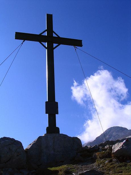Foto: Andreas Koller / Klettersteig Tour / Cellon Stollen und Steinbergerweg (2241 m) / Endlich am Gipfel des Frischenkofel / 23.10.2008 01:03:25