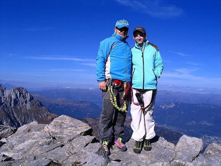 Foto: Andreas Koller / Klettersteig Tour / Cellon Stollen und Steinbergerweg (2241 m) / Am Frischenkofel / 23.10.2008 01:00:26