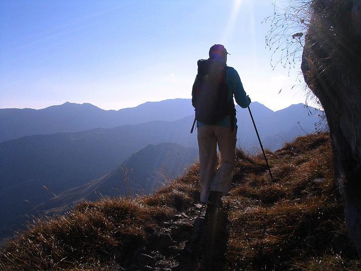 Foto: Andreas Koller / Klettersteig Tour / Cellon Stollen und Steinbergerweg (2241 m) / Die südlichen Karnischen Alpen im Abstieg / 23.10.2008 00:59:46
