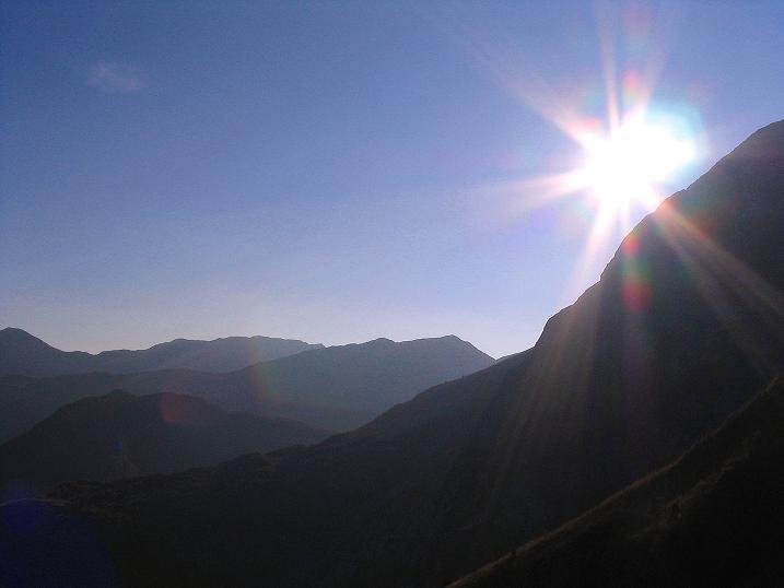 Foto: Andreas Koller / Klettersteig Tour / Cellon Stollen und Steinbergerweg (2241 m) / Blick nach W Richtung Rif. Marinelli / 23.10.2008 00:58:17
