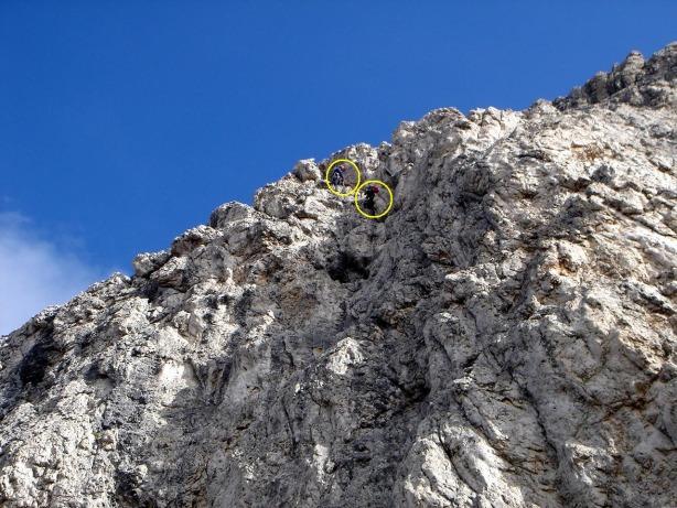 Foto: Manfred Karl / Kletter Tour / Via Gianleo IV / Seilschaft in der zweiten Seillänge / 23.10.2008 21:37:50