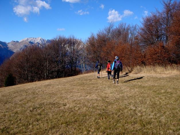Foto: Manfred Karl / Klettersteig Tour / Via ferrata Ernesto Che Guevara / Abstieg am Nordwestrücken des Monte Casale (Variante b) / 28.10.2008 11:03:57