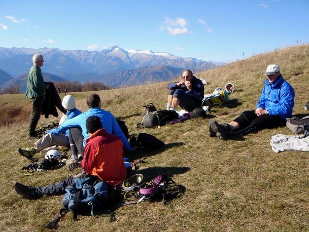 Foto: Manfred Karl / Klettersteig Tour / Via ferrata Ernesto Che Guevara / Wohlverdiente Rast / 28.10.2008 11:09:48