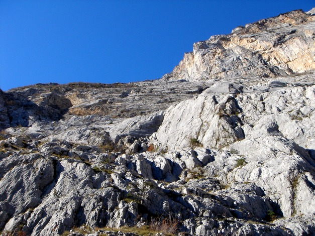 Foto: Manfred Karl / Klettersteig Tour / Via ferrata Ernesto Che Guevara / Der Weg ist noch lang durch die Wand / 28.10.2008 11:21:55