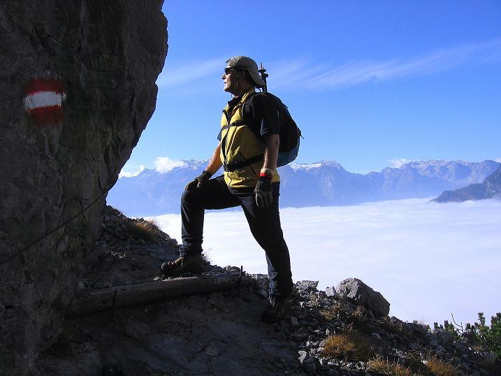 Foto: Andreas Koller / Klettersteig Tour / Hochkogelklettersteig (2303m) / Am Hochkogelsteig dem Hochkönig gegenüber (2943 m) / 28.10.2008 22:33:50