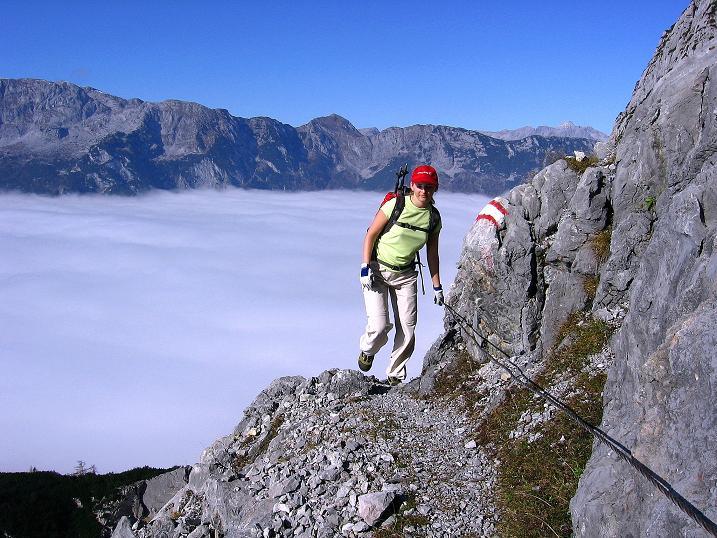 Foto: Andreas Koller / Klettersteig Tour / Hochkogelklettersteig (2303m) / Ausgesetzt, aber gut gesichert hoch über dem Salzachtal / 28.10.2008 22:31:50