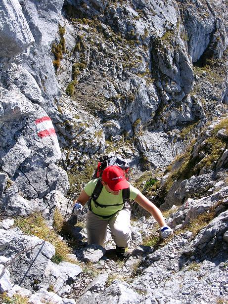 Foto: Andreas Koller / Klettersteig Tour / Hochkogelklettersteig (2303m) / Klettersteigeinlagen geben der Tour Spannung / 28.10.2008 22:31:06