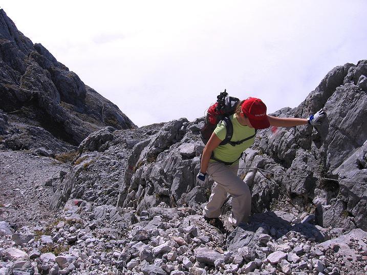 Foto: Andreas Koller / Klettersteig Tour / Hochkogelklettersteig (2303m) / Immer wieder leichte, gesicherte Passagen / 28.10.2008 22:30:15