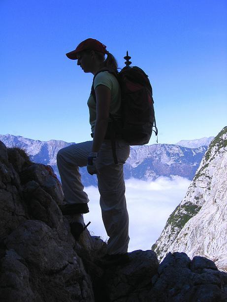 Foto: Andreas Koller / Klettersteig Tour / Hochkogelklettersteig (2303m) / Trittstifte am Hochkogelsteig / 28.10.2008 22:29:51