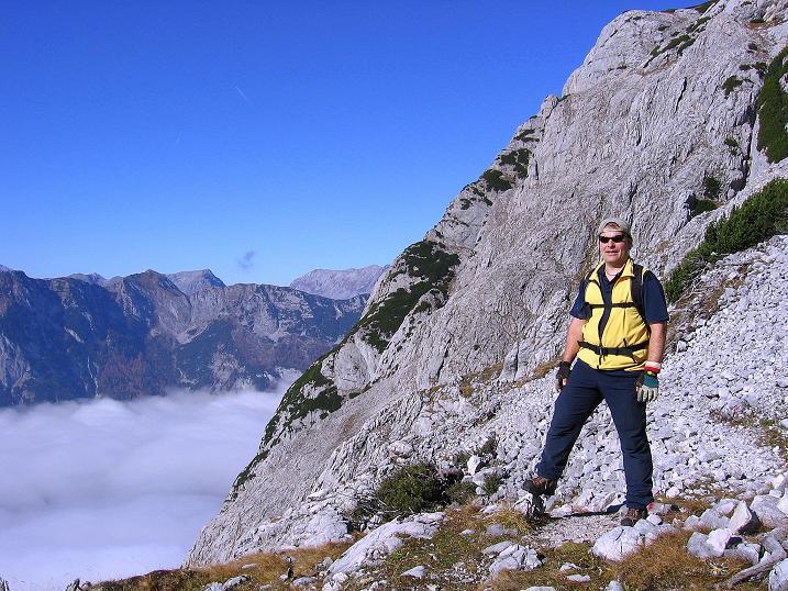 Foto: Andreas Koller / Klettersteig Tour / Hochkogelklettersteig (2303m) / Kurz vor dem steilen Schlusswandl / 28.10.2008 22:27:22