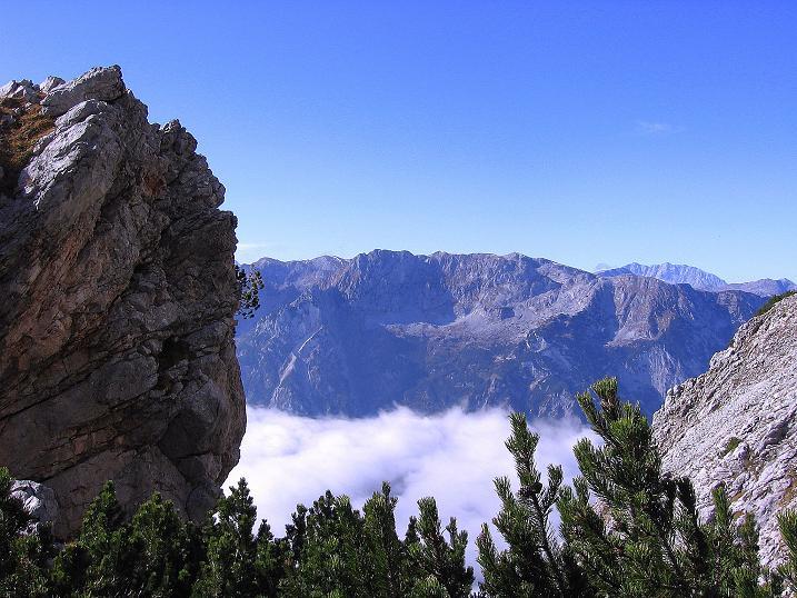 Foto: Andreas Koller / Klettersteig Tour / Hochkogelklettersteig (2303m) / Blick vom Hochkogelsteig zum Watzmann (2718 m) / 28.10.2008 22:26:49