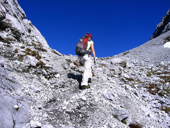 Foto: Andreas Koller / Klettersteig Tour / Hochkogelklettersteig (2303m) / Die letzten Meter zum Hochkogeltief / 28.10.2008 22:26:20