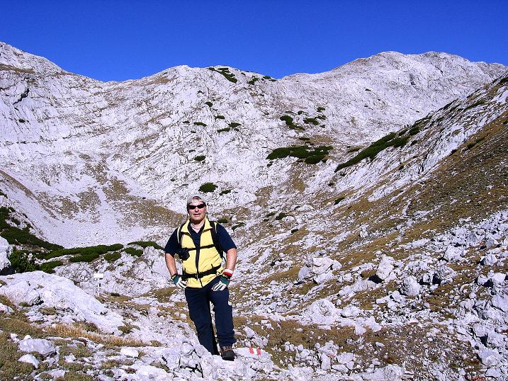 Foto: Andreas Koller / Klettersteig Tour / Hochkogelklettersteig (2303m) / Im Hochkogeltief / 28.10.2008 22:26:00