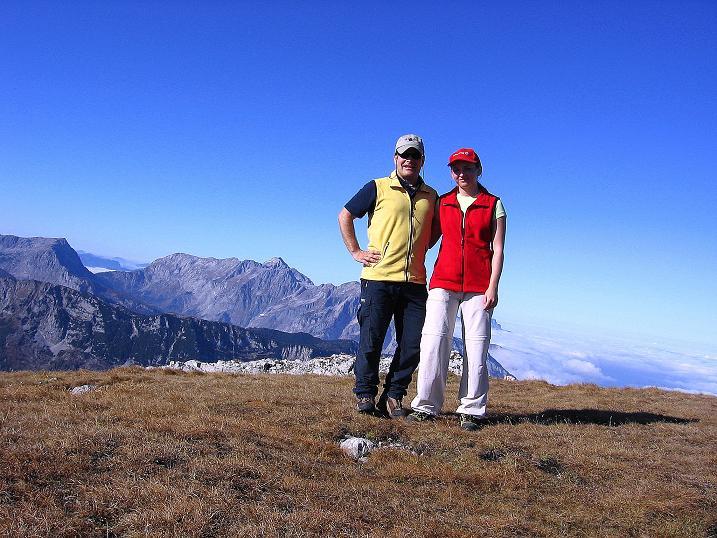 Foto: Andreas Koller / Klettersteig Tour / Hochkogelklettersteig (2303m) / Den Hochkogel-Gipfel erreicht / 28.10.2008 22:25:07