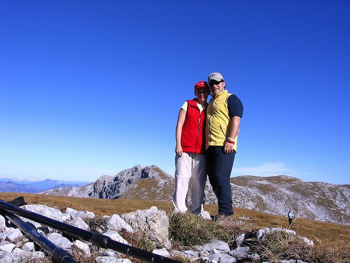 Foto: Andreas Koller / Klettersteig Tour / Hochkogelklettersteig (2303m) / Am Hochkogel mit Block nach O zum Tiroler Kogel (2322 m) / 28.10.2008 22:22:50