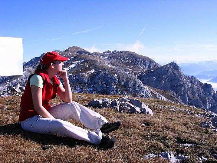 Foto: Andreas Koller / Klettersteig Tour / Hochkogelklettersteig (2303m) / Gut ist es zu rasten am Hochkogel / 28.10.2008 22:21:55