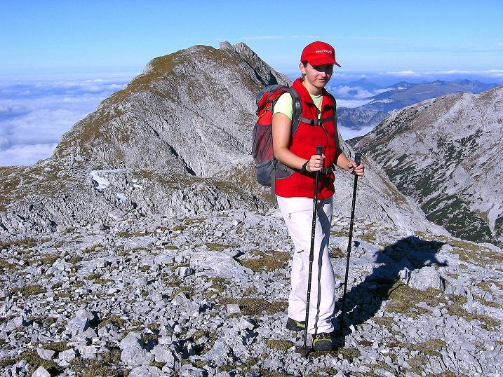 Foto: Andreas Koller / Klettersteig Tour / Hochkogelklettersteig (2303m) / Am Windischkogel mit Blick auf den benachbarten Tiroler Kogel (2322 m) / 28.10.2008 22:21:05