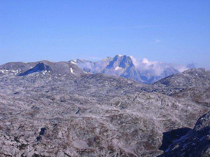 Foto: Andreas Koller / Klettersteig Tour / Hochkogelklettersteig (2303m) / Im SO der Dachstein (2996 m) / 28.10.2008 22:20:25