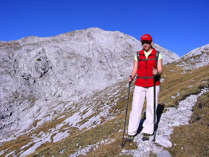Foto: Andreas Koller / Klettersteig Tour / Hochkogelklettersteig (2303m) / Abstieg mit Blick auf den Windischkogel / 28.10.2008 22:19:05