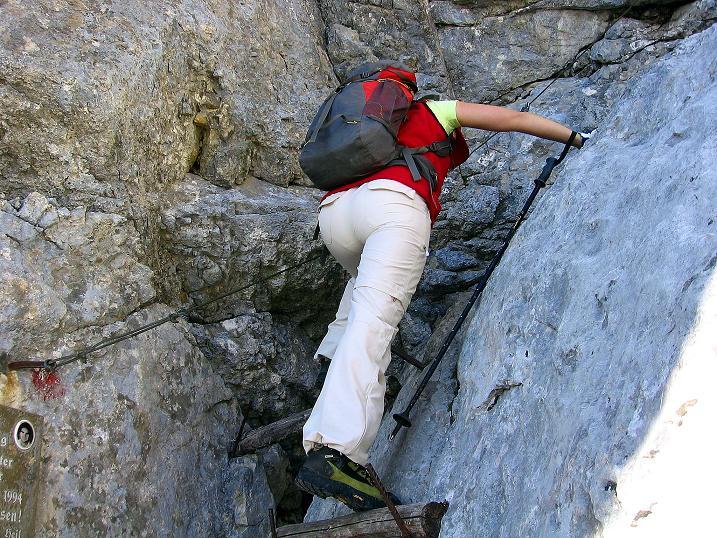 Foto: Andreas Koller / Klettersteig Tour / Hochkogelklettersteig (2303m) / Abstieg im Schlusswandl / 28.10.2008 22:18:25