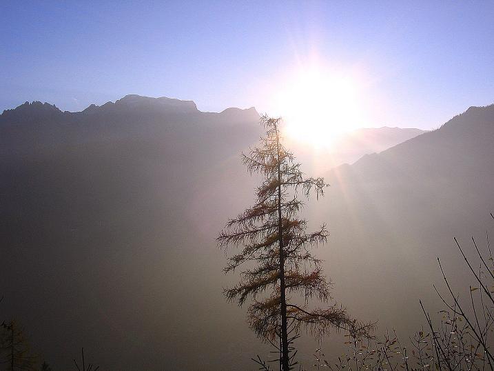 Foto: Andreas Koller / Klettersteig Tour / Hochkogelklettersteig (2303m) / Und weil es so schön ist nochmals: Sonnenuntergang über dem Hochkönig (2943 m) / 28.10.2008 22:17:42