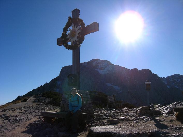 Foto: Andreas Koller / Klettersteig Tour / Klettersteig Mandlgrat / Mannlgrat auf den Hohen Göll (2522m) / Kehlstein-Gipfelkreuz und Hoher Göll / 30.10.2008 17:27:26