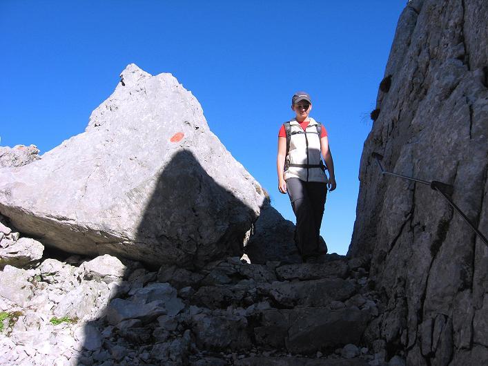 Foto: Andreas Koller / Klettersteig Tour / Klettersteig Mandlgrat / Mannlgrat auf den Hohen Göll (2522m) / Felsige Passagen zum Einstieg / 30.10.2008 17:26:42