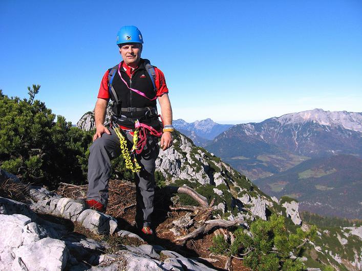 Foto: Andreas Koller / Klettersteig Tour / Klettersteig Mandlgrat / Mannlgrat auf den Hohen Göll (2522m) / Am eigentlichen Einstieg / 30.10.2008 17:25:55
