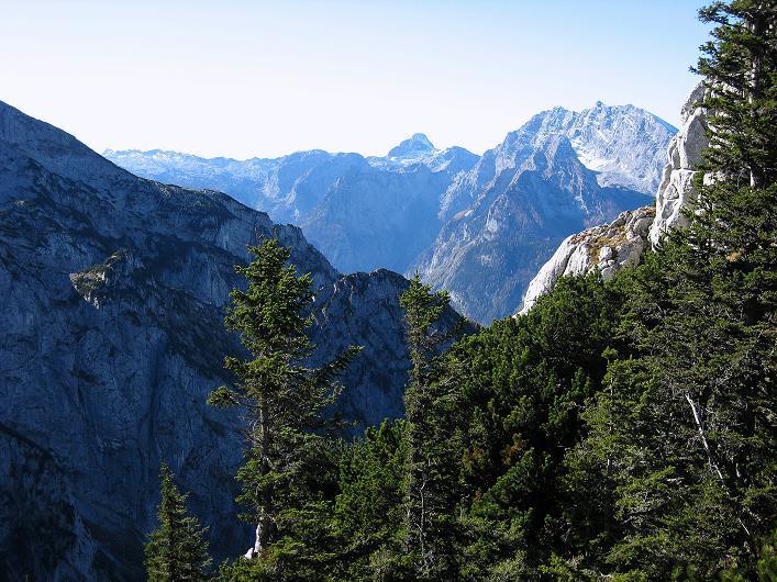 Foto: Andreas Koller / Klettersteig Tour / Klettersteig Mandlgrat / Mannlgrat auf den Hohen Göll (2522m) / Blick auf die Watzmann-Ostwand (2718 m) / 30.10.2008 17:24:03