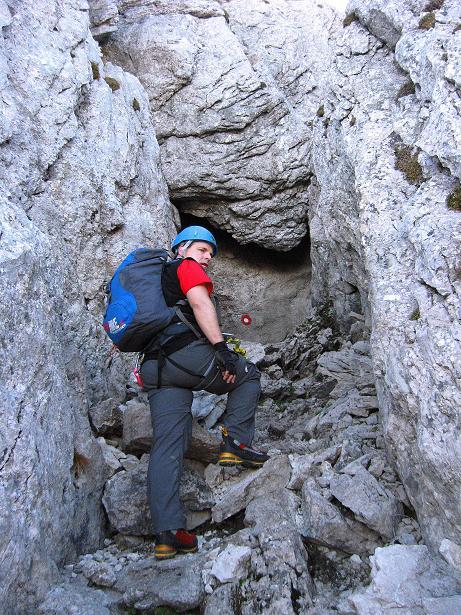 Foto: Andreas Koller / Klettersteig Tour / Klettersteig Mandlgrat / Mannlgrat auf den Hohen Göll (2522m) / Wo geht's hier weiter? / 30.10.2008 17:23:36